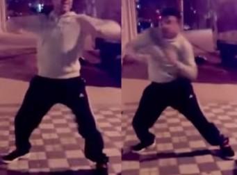 자동차 경보음에 맞춰 춤을~(동영상)