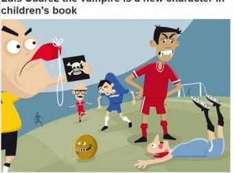 '핵이빨' 수아레스, 동화책서 뱀파이어 캐릭터 변신