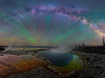 옐로 스톤 국립 공원 위로 펼쳐진 '은하수 무지개' (사진 5장)