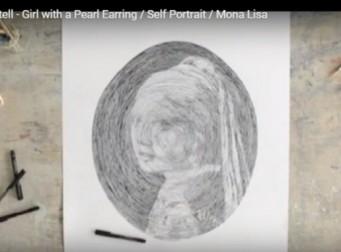 선의 굵기 조절만으로 인물화를 그려내다 (동영상)