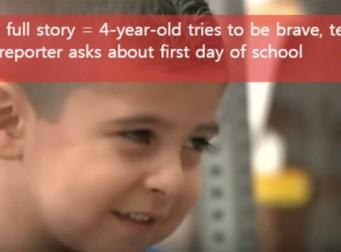 학교 가는 첫 날…소년의 소감은? (동영상)