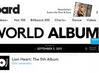 소녀시대, 美 빌보드 월드 앨범 차트 1위…글로벌 인기