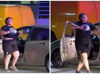 경찰에 쫓기다 갑자기 춤을? '황당女'(동영상)