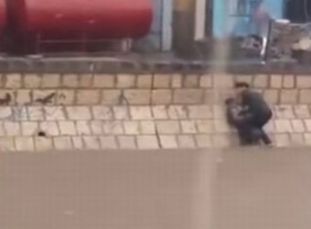 절대로 두고만 볼 수 없어! 온몸으로 소년을 구한 영웅(동영상)