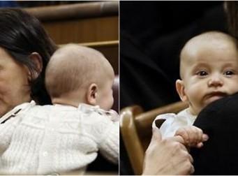[투표] '의회서 아기 수유' 스페인 女의원에 찬반논란 가열