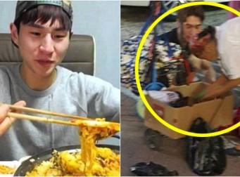야채 파는 할머니를 본 '먹방 BJ' 밴쯔의 행동 (사진2장)