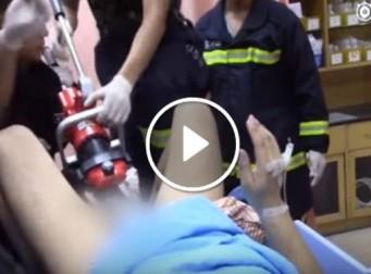 자석 사이에 고환이 끼어 응급실에서 유압절단기로 제거한 남성 (동영상)