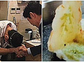 """""""스미마셍, 스미마셍"""" , '와사비 테러' 한 일본 초밥집 찾아가 사과받아낸 이영돈PD(동영상)"""