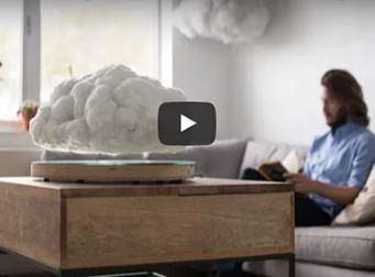 '집 안에 둥둥 떠다니는 구름이?' 보기만 해도 시원해지는 블루투스 스피커(동영상)