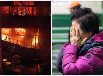 """""""화재보험 안 들었는데 어쩌면 좋아요…"""" 불타버린 점포를 보며 울부짖는 서문시장 상인들"""
