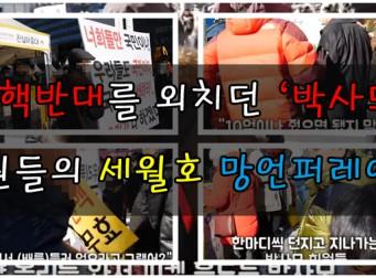 박근혜 대통령을 지지하는 4% 회원들이 세월호 유가족들에게 쏟아낸 망언들(동영상)