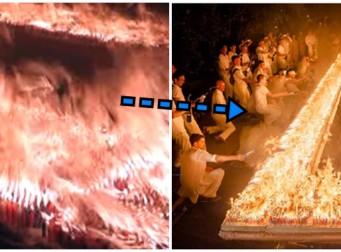 """'세계 기록' 생일 케이크에 촛불이 무려 7만개 """"어떻게 끄지…"""""""