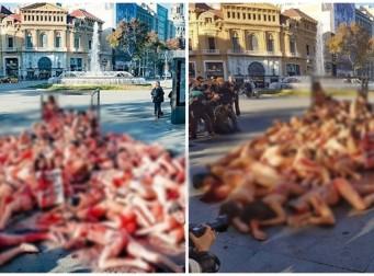 피범벅(?)이 된 수십 명 남녀가 길바닥에… 도대체 무슨 일이? (사진3장)