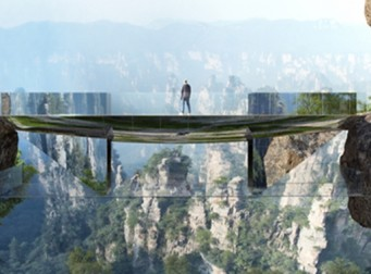 """영화 '아바타'의 배경이 된 고산지대의 다리. """"사람 눈엔 보이지 않아요~"""""""