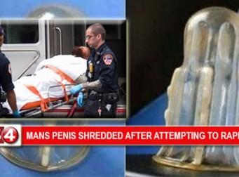 강간범의 성기를 무참히 찢어버린 '도끼 콘돔'의 위력