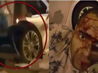 자신의 교통사고 장면을 녹화한 '관종' 男 (동영상)