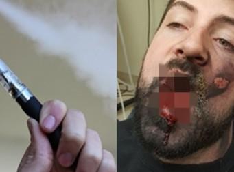 전자담배의 위험성을 경고하는 남성(사진3장)