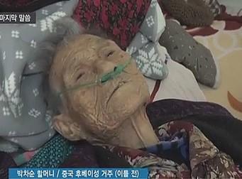 위안부 피해자 할머니가 숨을 거두기전 마지막으로 한 말(동영상)