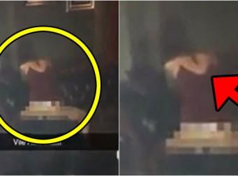 사람 바글바글한 술집 한가운데서 '대놓고' 하는 커플 (동영상)
