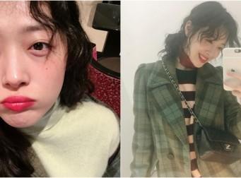 """새해맞이 설리의 독보적인 셀카 공개, """"뿌~♡"""""""