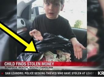 7세 아이가 우연히 발견한 '쓰레기통 속 돈다발'의 정체