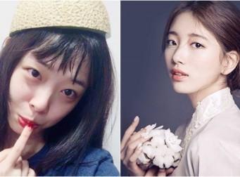외모 끝판왕인 수지+설리 합성사진 (feat.소희)