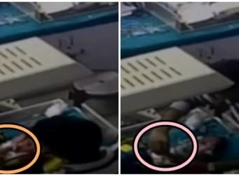 신생아 다리를 부러뜨리고도 태연한 간호사 (동영상)