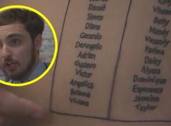 훈남 교사가 자신의 몸에 학생들의 이름을 문신으로 새긴 이유