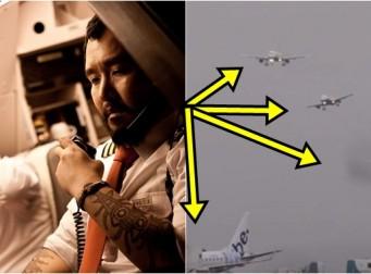 폭풍우 속 아찔한 착륙을 하는 비행기 (동영상)