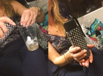 우산을 이용하여 술을 보관하는 방법