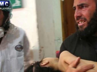 지난 4일 시리아에서 발생한 화학무기 참극 (동영상)