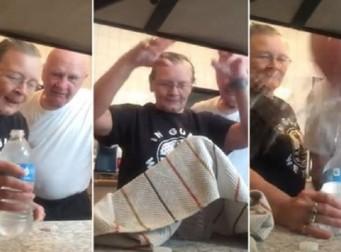 뭔가 러블리한, 할아버지 '제대로' 속인 할머니의 마술 (동영상)