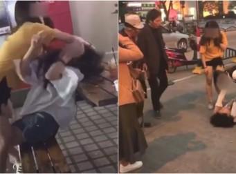 남편과 바람핀 불륜녀에게 오히려 구타당하는 아내 (동영상)
