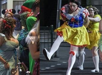 퇴폐미 돋는, 디즈니 캐릭터로 분장한 사람들 (사진12장)