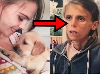 '거식증' 걸린 27kg 소녀가 자살 직전 '강아지'에게 남긴 유서 (사진 5장)