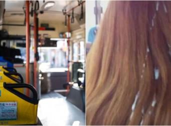 버스 안에서 '자위' 뒤 여학생 머리에 정액 묻힌 남성