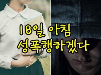 '여자 초등생 성폭행 예고 글' 올린 누리꾼의 정체가 밝혀졌다