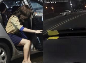 """""""제 가슴 좀 만져주세요"""" 택시 블랙박스 속 '꽃뱀'의 유혹 (동영상)"""