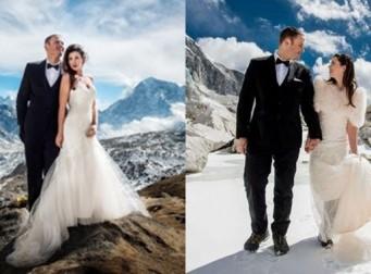 이 커플은 '5천미터' 에베레스트산에서 결혼식을 올렸다