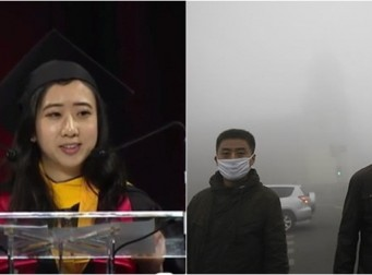 """""""깨끗한 공기 때문에 미국 왔다"""" 말한 중국인 유학생, 현재 중국에서…"""