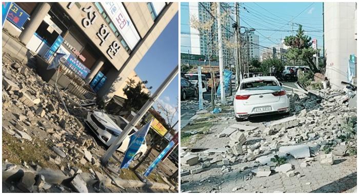 """""""갈라지고 무너지고"""" 포항 실시간 지진피해 사진들"""