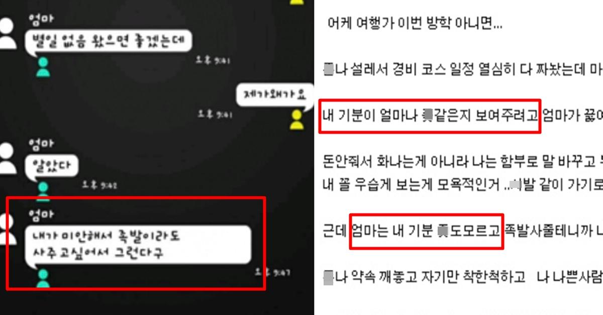 """""""기분 X같아서 엄마한테.."""" 레전드 갱신한 어제자 불효자"""